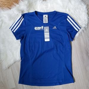 Adidas 3-stripes blue running tshirt